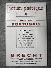 REVUE ACTION POÉTIQUE N°58 POÈTES PORTUGAIS BERTOLD BRECHT POÉSIE 1974