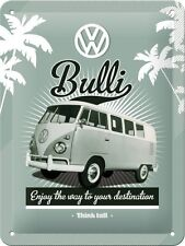 VW Retro Bulli Old Volkswagen Camper Van Garage Small 3D Metal Embossed Sign