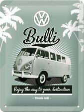 VW Rétro Bulli Ancienne Camping-car Volkswagen Van Garage Petit 3D Métal estampé