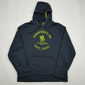 Under Armour Men's Size Large Loose Hoodie Sweatshirt Wounded Warrior Cold Gear