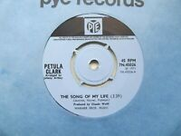 """PETULA CLARK The Song Of My Life/For Love UK 7"""" EX Cond"""