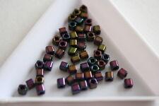 Metallic Iris Purple Toho Square Beads. 150 beads. #7343