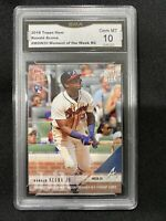 Ronald Acuna RC graded 10 Topps 2018