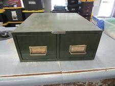Vintage Steelmaster Metal Index Card Cabinet 2 Drawer Index File Parts Holder