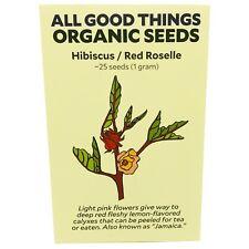 Hibiscus Roselle (Hibiscus sabdariffa) Seeds (~25): Certified Organic, Non-GMO