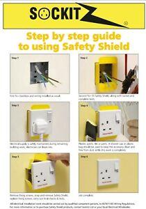 Socket Safetyshield Disposable SSD170 1 Gang 30mm (not yoozybox) x 10no