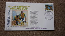 2004 AUSTRALIAN OLYMPIC GOLD MEDAL WIN FDC, ATHENS MENS MADISON CYCLING TEAM