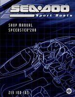 Sea-Doo 2004 Speedster 200 Service Repair Shop Manual 219100185 Free Shipping