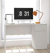 Escritorio mesa de estudio, oficina o despacho blanco con puerta y cajon 120cm