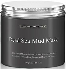 Pure Body Naturals Beauty Dead Sea Mud Mask for Facial Treatment 250g 8.8 fl.oz