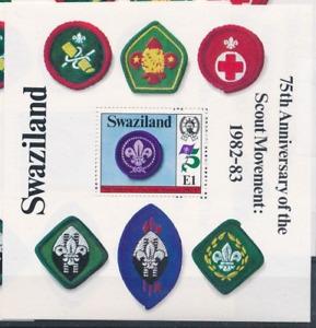 Swaziland - 1982 - Sc 422 - 75Th Anniversary of Scouting Souvenir Sheet VF MNH