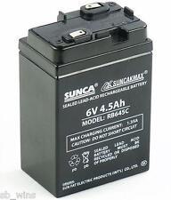 Sunca 6V 4.5Ah maintenance Free Rechargable Battery Emergency Light/Toy/UPS