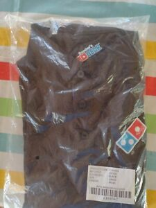 Dominos Men's Manager Polo Shirt large Black