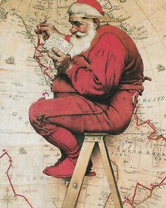 TRACKING CHRISTMAS NORMAN ROCKWELL 8x10 Poster FINE ART Print  ARTIST