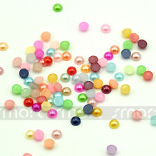 5000/10000pcs Various Color Half Round Pearl Bead Flat Back 3mm
