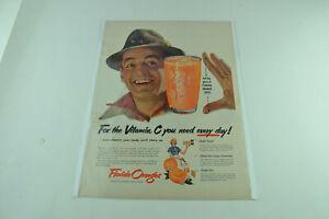 Florida Oranges Vitamin C Flyfishing Hat Full Page Print Ad 770