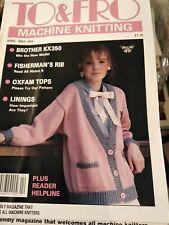 To And Fro Machine Knitting Magazine