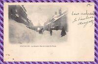 Carte Postale - Pontarlier - la grande rue en temps de neige