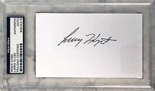 Larry Flynt Hustlers Magazine Casino Signed 3x5 Index Card PSA/DNA Slabbed