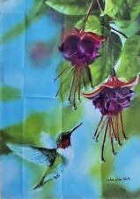 "Hummingbird and Fuchsias Standard House Flag by Toland 28"" x 40"", #2091"
