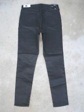 The Gap Wm Legging Mid Rise Super Skinny Black Resin Faux Leather Sz 12 / 31 NEW
