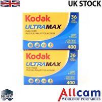 2 Pack: Kodak Ultramax Gold Ultra GC 35mm 36 Exp ISO 400 Color Negative Film