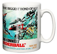 Dirty Fingers Mug, Sean Connery James Bond Thunderball, Full Poster Design Gift