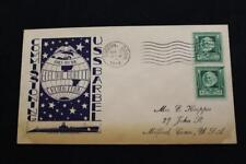 NAVAL COVER WORLD WAR 2 1944 MACHINE CANC COMMISSION USS BARBEL (SS-316) (4851)