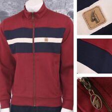 Chemises décontractées et hauts rouges pour homme