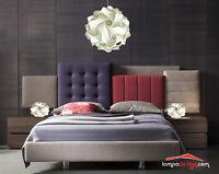 Luci Camera da letto Lampadario sospensione 35cm + 2 lampade comodino moderne