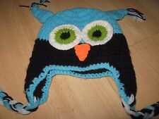 Novelty crochet owl hat-photo prop babies,clothing,fun,cute 0-1 yrs