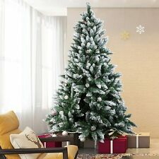 6FT Christmas Tree Xmas Colorado Spruce Green Bushy Festive Decor Crimbo