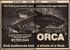 ORCA The Killer Whale__Original 1977 Trade AD / box office poster_RICHARD HARRIS