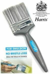"Harris 4"" Paint Brush No Bristle Loss Quality Decorating Emulsion Painting Brush"