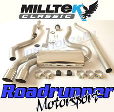 Milltek Audi Coupe UR Quattro 20v Turbo Exhaust System Non Res Downpipe Back Pol