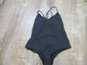 Malia Mills Starlet Maillot Swimsuit Black lace up Sz. 12 NWOT MRSP $360
