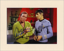 WILLIAM SHATNER & LEONARD NIMOY STAR TREK PP 8x10 MOUNTED SIGNED AUTOGRAPH PHOTO