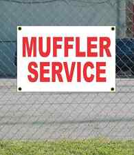 2x3 MUFFLER SERVICE Red & White Banner Sign NEW Discount Size & Price FREE SHIP