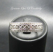18ct White Gold Diamond Band Ring Size V 1/2 9.3g 1.5 carats