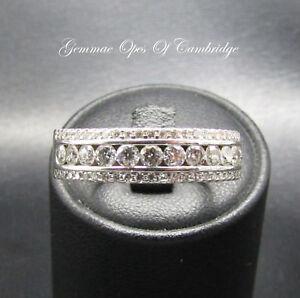 18K Gold 18ct Gold Diamond Band Ring Size V 1/2 9.3g 1.5 carats 9.3g