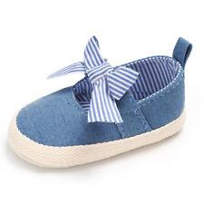 Princess Mary Jane Bow Girls First Walker Crib Soft Sole Footwear Newborn Shoes