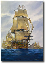 """""""England's Wooden Walls"""" by Tom Freeman - Lord Nelson's HMS Victory"""