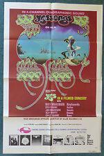 YES SONGS 1975 ORIGINAL 1 SHEET MOVIE POSTER CONCERT FILM PROG ROCK RICK WAKEMAN