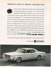1963 Chrysler 300-J Automobile Car Vtg Print Ad