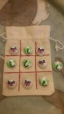 Hand painted pebble game. tic tac toe set new more designs available, great fun