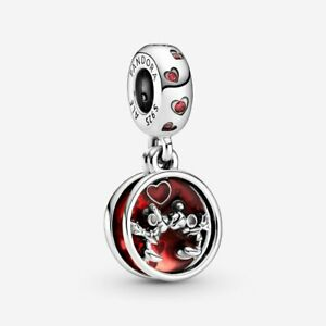 Genuine Pandora 925 ALE Disney Mickey Mouse Minnie Mouse Love Kisses 799298C01