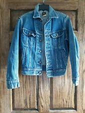 Vintage Lee Denim 4 Pocket Trucker Jean Jacket #153438 USA Made Mens 34R
