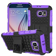 Shockproof Protection Heavy Duty Tough 2 Layer Phone Case Cover+Stand✔Purple
