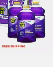 Pine-Sol All Purpose Cleaner, Lavender Clean, 144 oz Bottle, 3/Carton dented