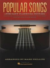 Popular Songs for Easy Classical Guitar. Sheet Music